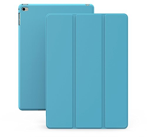 iPad Air 2 Case (iPad 6) - KHOMO DUAL Super Slim Blue Cover with Rubberized back and Smart Feature (Built-in magnet for sleep / wake feature) For Apple iPad Air 2 Tablet (Ipad Air 2 Khomo Dual compare prices)