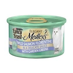 Fancy Feast Elegant Medleys Wild Salmon Florentine with Garden Greens (24/3-oz cans)