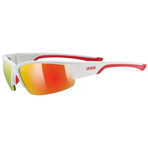 Uvex SGL 215 - Occhiali da ciclismo, Bianco/Rosso
