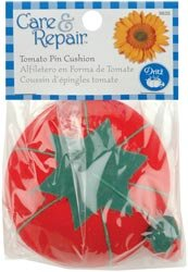 Dritz Tomato Pin Cushion W/Emery Sharpener 9635D; 6 Items/Order