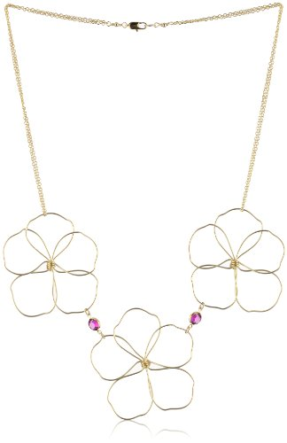 "Susan Hanover Designs ""Modern Metals"" Organic Wired Flower Necklace"