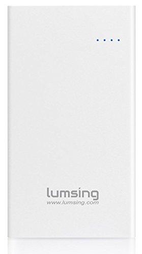 Lumsing モバイルバッテリー 大容量 薄型 15000mAh 3ポート 急速充電  iPhone 6s / 6s Plus / 6 / 6 Plus / 5s / スマホ / iPad / Android / Xperia / Galaxy / タブレット 等対応  ホワイト  Glory P1 plus