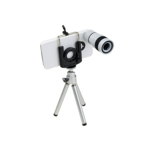 3 In1 8X Telephoto+180° Fish Eye+Wide Angle Lens Kit Tripod Case For Iphone 4 4S
