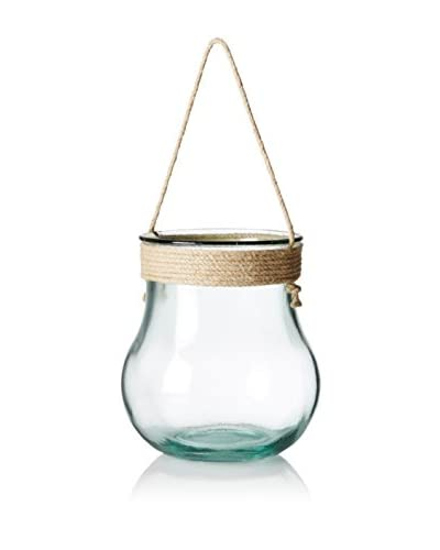 French Home Lantern/Vase with Rope Top