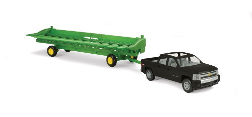 Ertl Big Farm 1:16 Chevy Pickup With John Deere 512C Corn Head & Header Cart front-964002