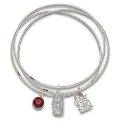 MLB Officially Licensed 2011 World Series Champs - Cardinals Bangle Bracelets Size: 7 Sports Fashion Jewelry
