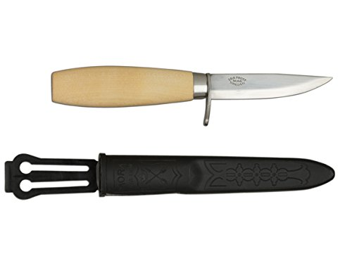 Morakniv Wood Carving Junior 73/164 Knife With Carbon Steel Blade, 3.0-Inch