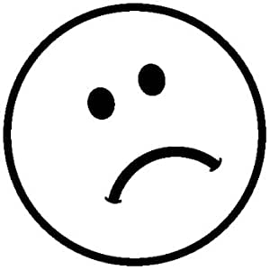 Rubber Stamp Sad Face