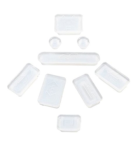 Clublaptop Apple Macbook Pro 13 13.3 Inch Anti Dust Port Plugs Cover (Transparent, Set Of 9)  available at amazon for Rs.150