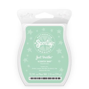 Scentsy, Just Breathe, Wickless Candle Tart Warmer Wax 3.2 Fl Oz, 8 Square