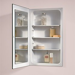 Jensen 1035P24WHG Cove Single-Door Recessed Medicine Cabinet