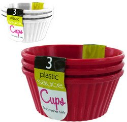 Plastic Dipping Sauce Cups (Sold by 1 pack of 24 items) PROD-ID : 1281103