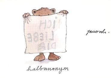 Janosch Postkarte Halbanonym