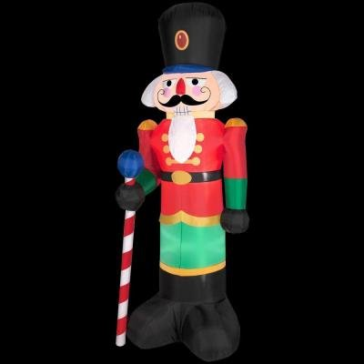 6.5 Tall Christmas Red Lighted Nutcracker LED Airblown Inflatable By Gemmy Outdoor Yard Decoration