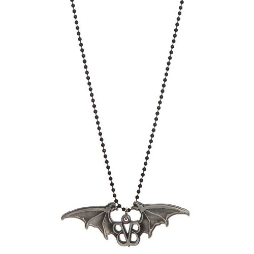 Amazon.com: Black Veil Brides Logo Bat Wings Necklace