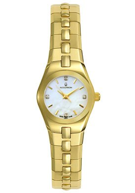 Accutron 27P011 Women's Lucerne Yellow Gold Tone Diamond Watch