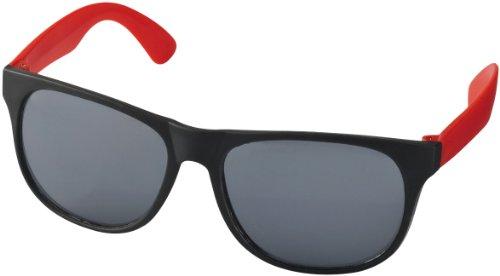 """Retro Sonnenbrille - UV 400 zertifiziert - Sonnenbrille im """"Nerdlook"""" (schwarz und rot)"""