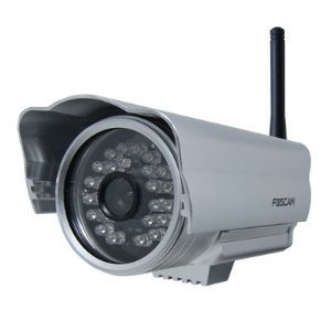 Foscam FI8904W Outdoor Wireless/Wired IP Camera with 15 - 20 Meter Night Vision and 2.8mm Lens (50° Viewing Angle) - Silver