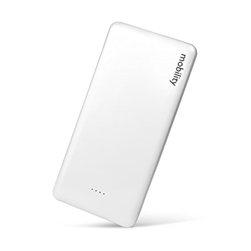 Mobility 10,000 mAh Power Bank (white) w/ Dual USB Output - Portable Charger/Lithium Polymer Battery Backup Pack Designed to Charge Cell Phones, Tablets & Mobile Devices While Traveling or On-the-Go (To Mobile Phones compare prices)
