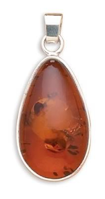 Oval Baltic Amber Pendant
