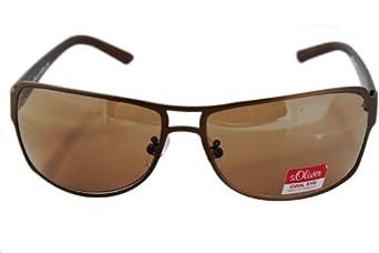 S.Oliver - 0158 braun mat. Revival Pilotenbrille in schwarz. Entspiegelt mit 100% UV Schutz.+ Brillenetui