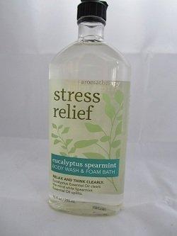 Bath and Body Aromatherapy Stress Eucalyptus Body Wash Foam Bath 10 Oz