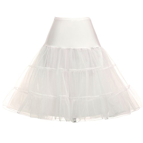 Plus Size Puffy Petticoat Slips Variety of Colors (XL,Ivory)