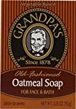 Grandpas Old Fashioned Oatmeal Soap For Face & Bath 3.25 Oz (92 G)