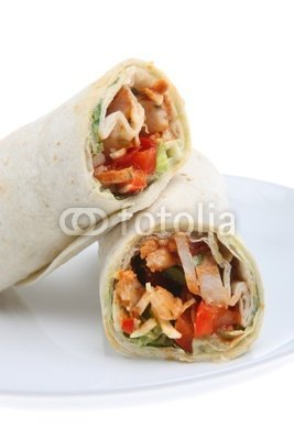 "Wallmonkeys Peel and Stick Wall Decals - Chicken Fajita Wrap - 48""H x 32""W Removable Graphic"