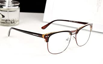 Rimless Geek Glasses : Amazon.com: Brown Fashion Hipster Vintage Retro Semi ...