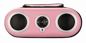 iHome2go iH19p pink zip-it and go splash resistant portable stereo sport case for ipod