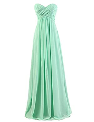 Dresstells® Sweetheart Bridesmaid Chiffon Prom Dresses Long Evening