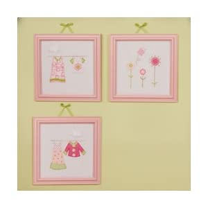 Baby Clothing Wall  on Amazon Com  Clothes Line   Wall Art  Set Of 3  Embroidered   Baby