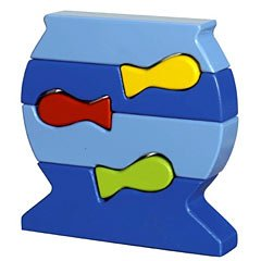 Blue Orange Puzzle Up Aquarium Building Game Puzzle