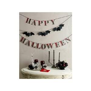 Martha Stewart Happy Halloween Bat Garland
