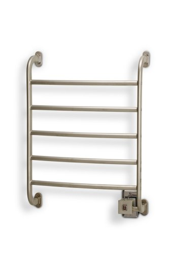 New Jerdon HSRS Warmrails Regent Wall Mounted Towel Warmer, 25.25-Inches, Nickel Finish