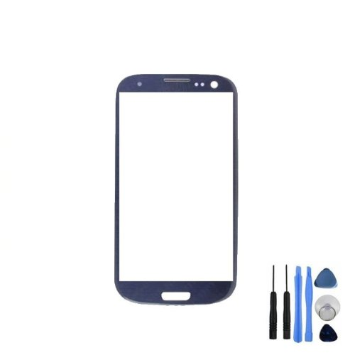 BisLinks® Blue Front Screen Lens Glass For Samsung Galaxy S3 Mini i8190 + Tools + Adhesive (Galaxy S3 Red Screen Repair Kit compare prices)