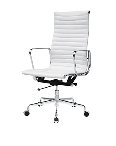 MaxMod Togo High Back Leather Office Chair, White
