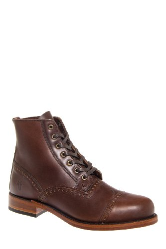 Frye Arkansas Brogue Low Heel Boot