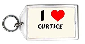 I love Curtice personalized keychain (first name/surname/nickname)