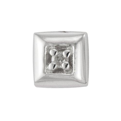 9ct White Gold Gents' Diamond Set Single Stud Earring