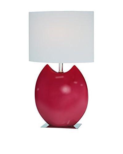 Lite Source Spazio 1-Light Table Lamp, Red/White