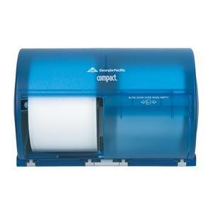 georgia-pacific-56783-toilet-paper-dispenser-elegant-commercial-grade-blue-gp-compact-toilet-paper-d