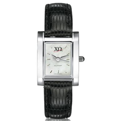 Chi Omega Women's Mother of Pearl Quad Watch with Leather Strap (Chi Omega Watch compare prices)