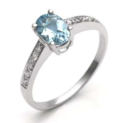 Cheap durable aquamarine engagement rings