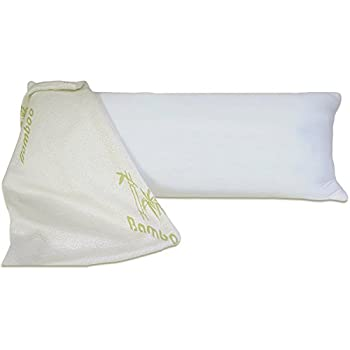 FY-Living Shredded Memory Foam Body Pillow with Bamboo Cover, Neck Pain Relief, 1-Pack