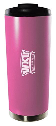 Western Kentucky University-16Oz. Stainless Steel Vacuum Insulated Travel Mug Tumbler-Pink