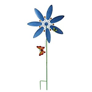 Arcadia Flower Windmill Garden Stake, Small, Assorted