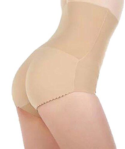 d48a394ef57b5 DODOING Padded Panty High Waist Briefs Sexy Charming Women Slim Underwear  Bottom Hip up Briefs Butt ...