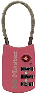 Master Lock 4688DPINK Breast Cancer Research Foundation TSA Resettable Travel Lock, Pink